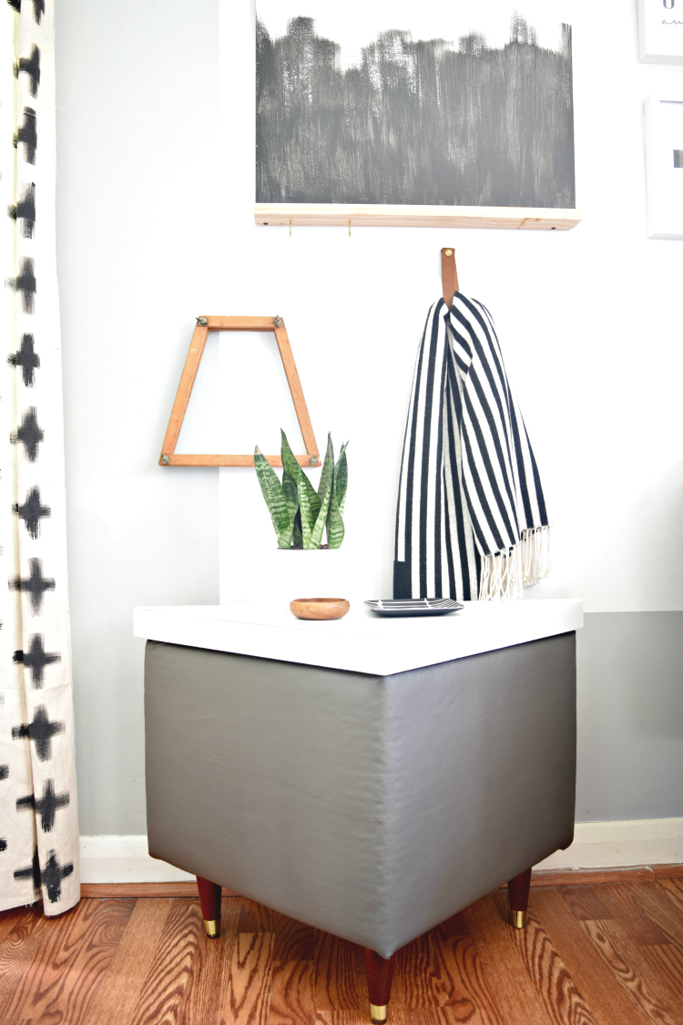 Major transformation of these Mid-century side tables.