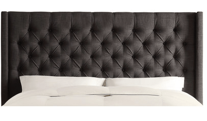 Upholstered bed from Wayfair. LOVE!