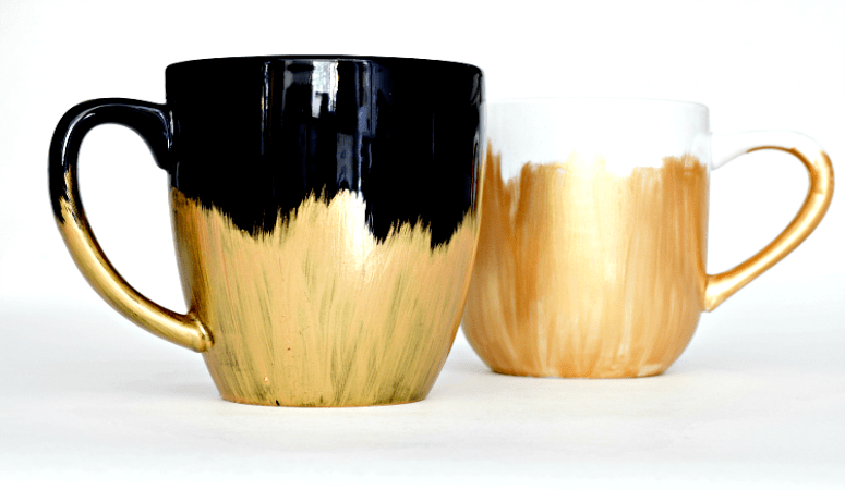 DIY Dishwasher Safe Painted Mugs