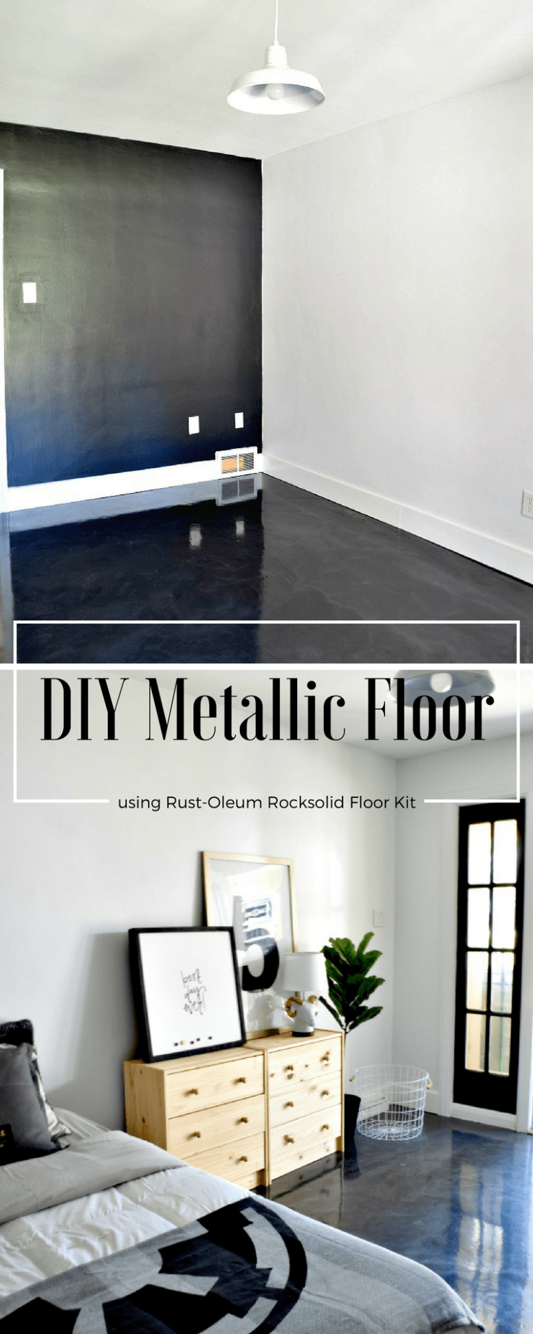 DIY Metallic Floor using Rusto-Oleum Rocksolid