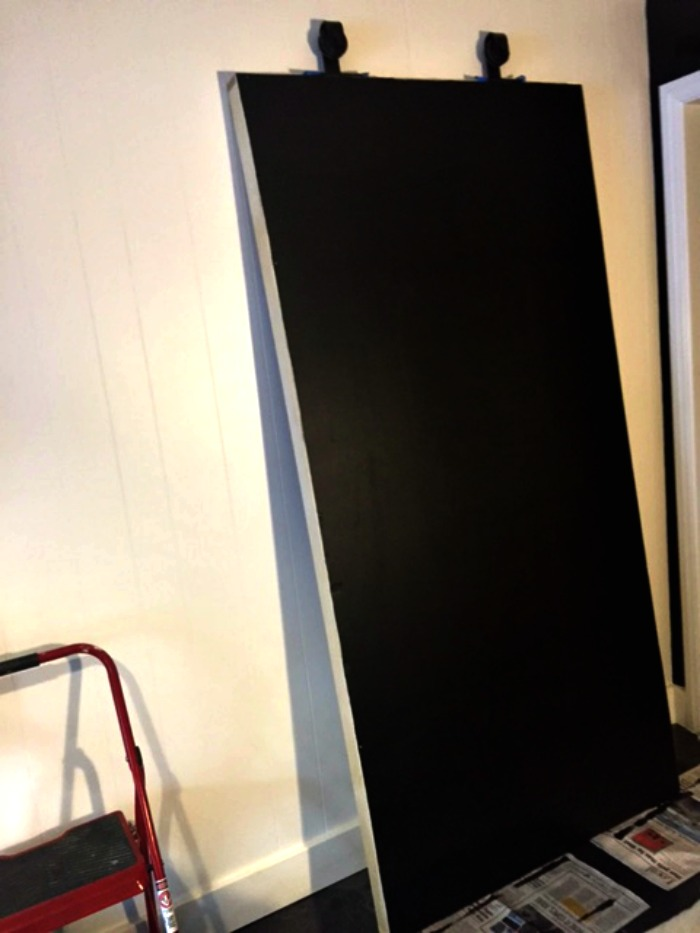 How to DIY a large chalkboard with large art. It's easy!
