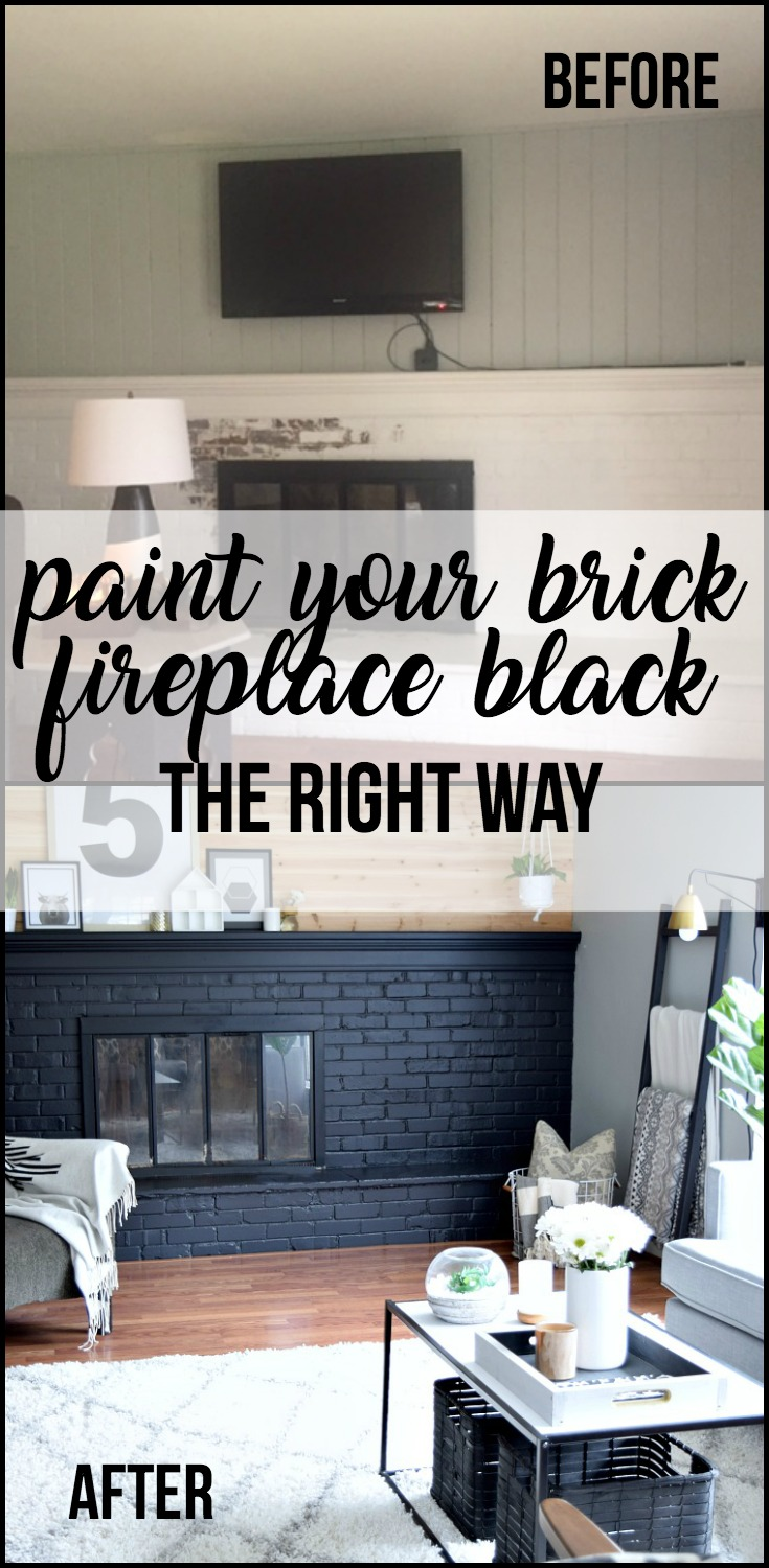 How to Paint Your Brick Fireplace the right way!