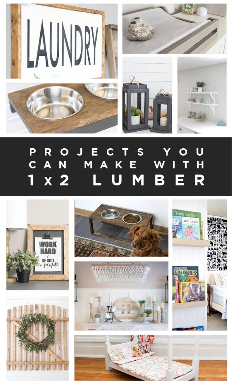 12 Projects You Can DIY with 1x2 Lumber!