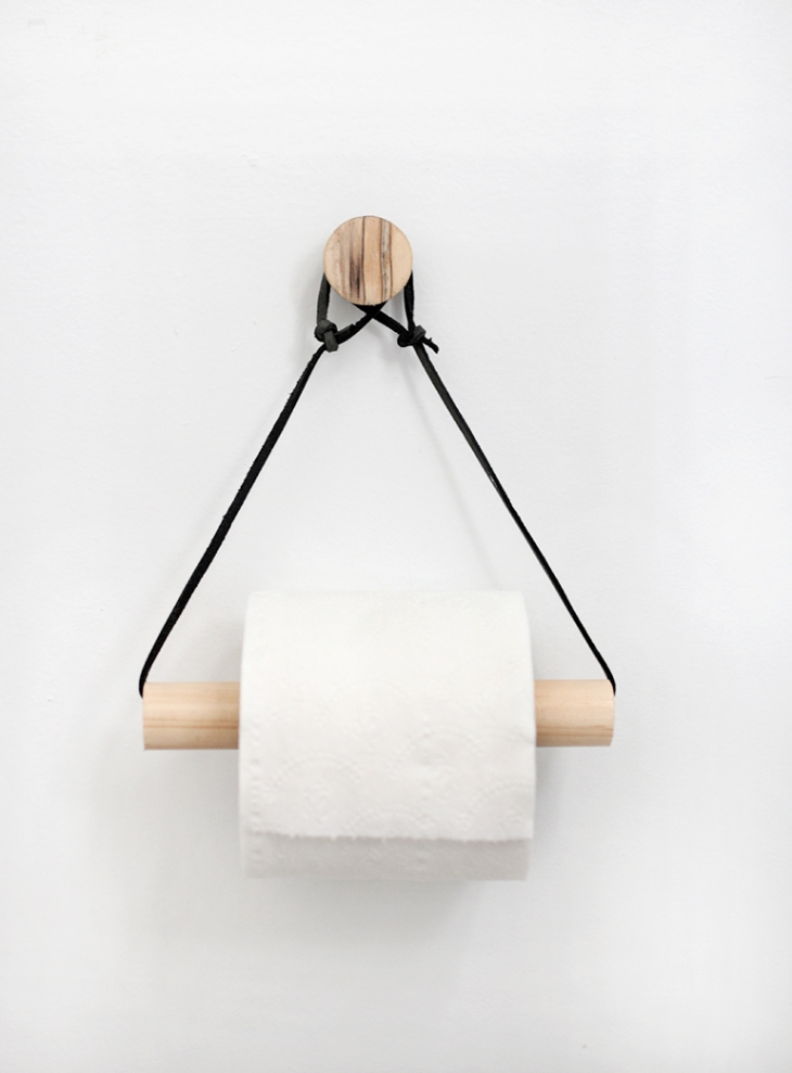 DIY Toilet Paper Holder from The Merry Thought