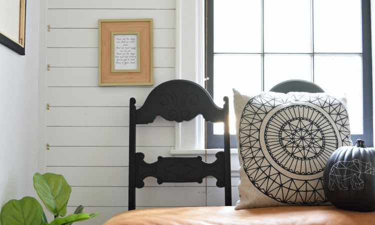 DIY Leather Bench Makeover