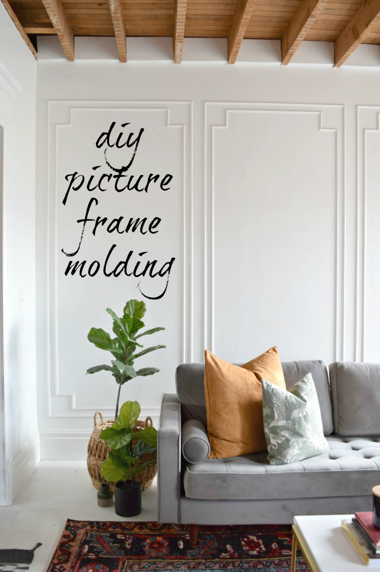 Easy DIY picture frame molding that will add so much character to your home!