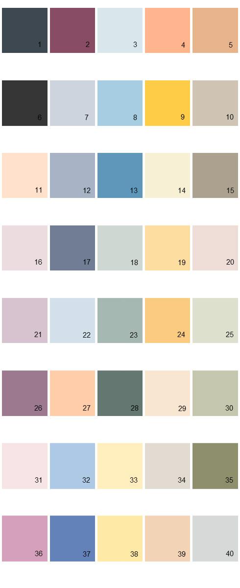 Behr Paint Colors  Palette 25  House Paint Colors