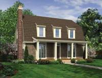 Gambrel Roof with Dormers and Front Porch | House Plan Hunters