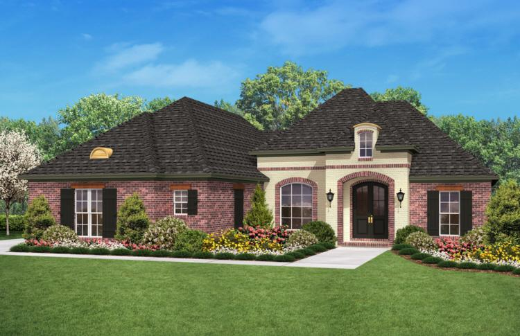 Country Plan: 1,800 Square Feet, 3 Bedrooms, 2 Bathrooms