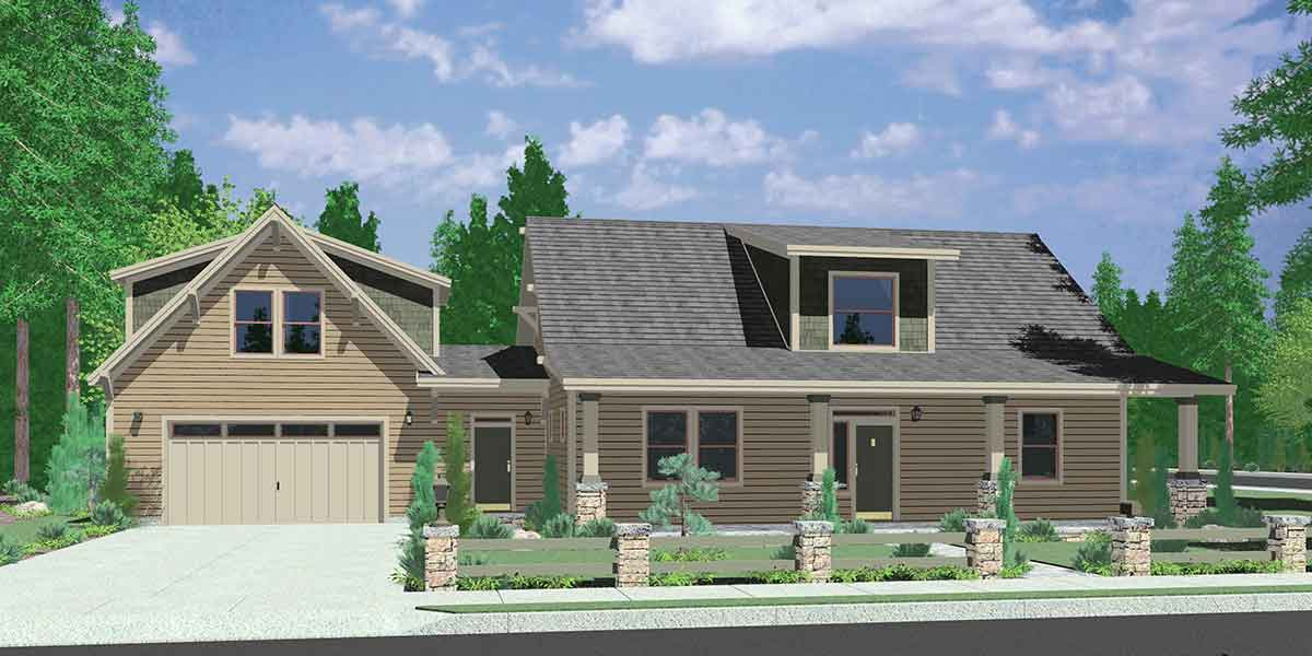 Country House Plan, Carriage Garage, Master Bedroom On