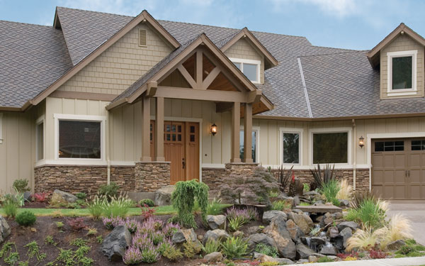 log & rustic homes landscaping
