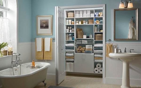 linen closet organization - house plans and more