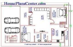 30x50 vastu house plan Ground floor