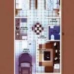 2 BHK 20x50 tinny House plan