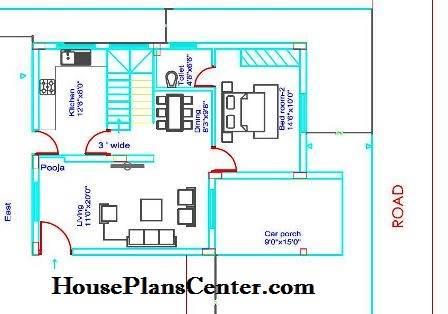 25x35 house plans Duplex GF