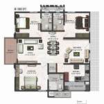 3 BHK House plans 3d floor plans