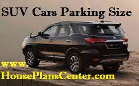 suv cars parking size