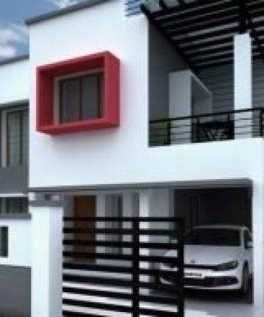 25x35 duplex house design