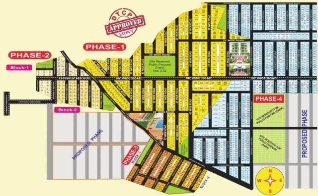 RESIDENTIAL LAYOUT PLOTS DESIGN FOR LAYOUT DESIGN WORKS AT TUMKUR