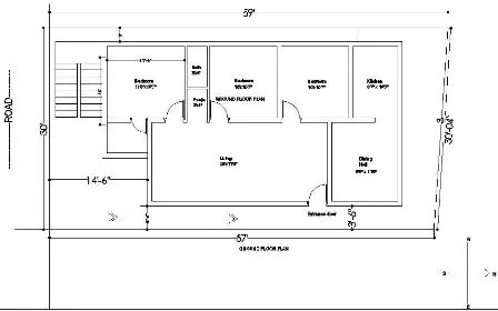 30x60 house plan ground floor plan 222