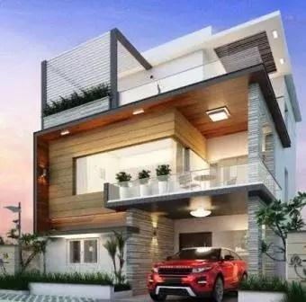 40x60 Luxury house 3d elevation