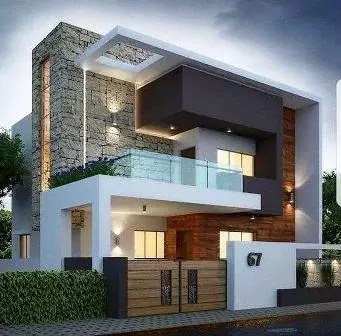 40x60 luxury house front elevation