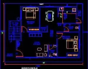 House plan ground floor 204