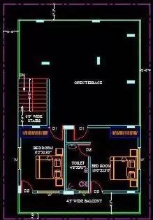 House plans terrace floor 205
