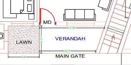 Veranda design entrance of house