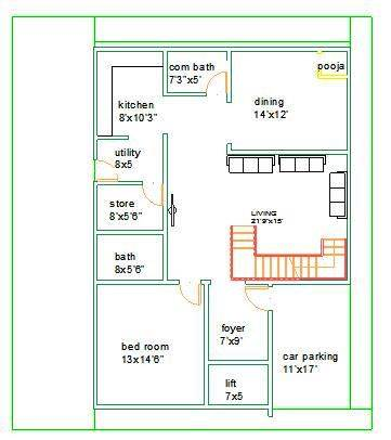32x50 Ground Floor Mr Dhanunjaya bangalore-duplex house plan
