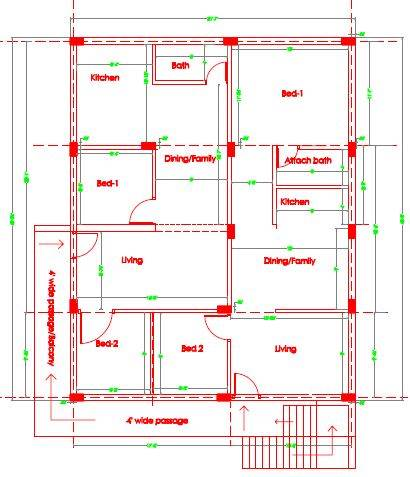 40x60 north luxury house plan Ground floor and 1st floor Framing layout working plan