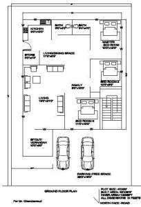 40x60 north luxury house plan Ground floor