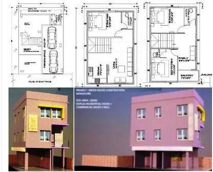 20x30 duplex house plans