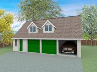 annexe plans with triple garage