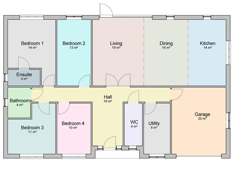 detached bungalow design