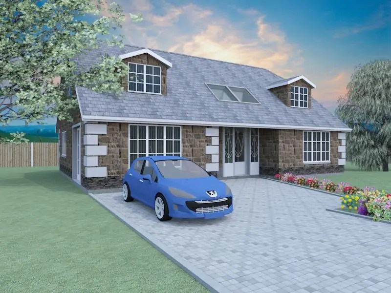 2 bedroom dormer bungalow plans