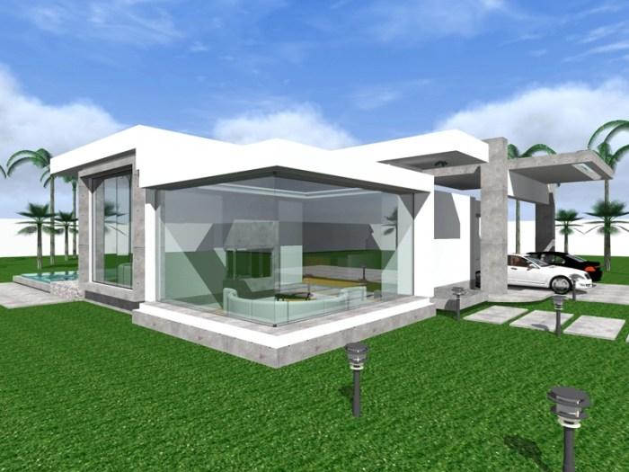 three bedroom modern bungalow design