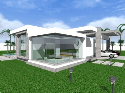 three bedroom modern bungalow design