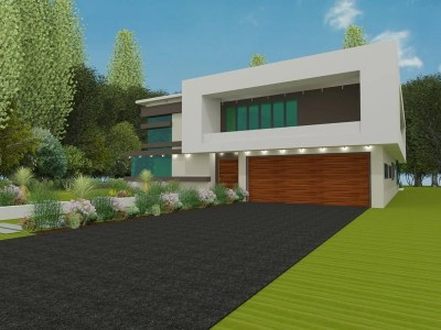contemporary detached home