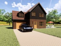 three bedroom detached house plan