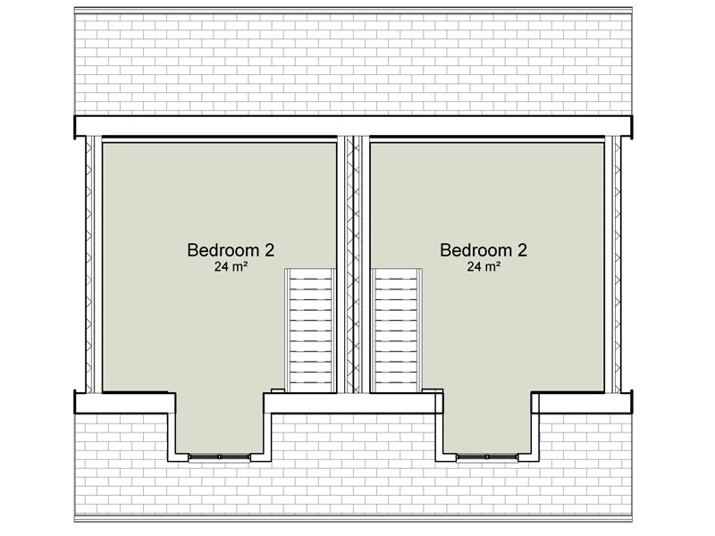 semi detached house plans
