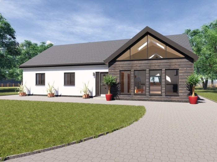 three bedroom contemporary bungalow design