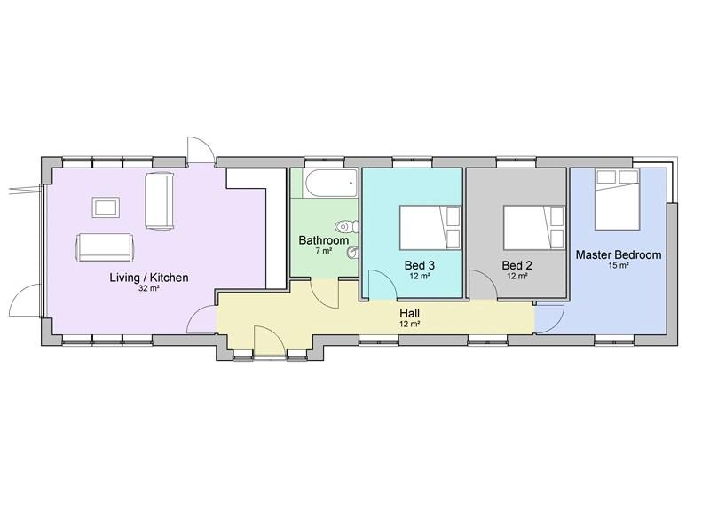 three bedroom bungalow plans