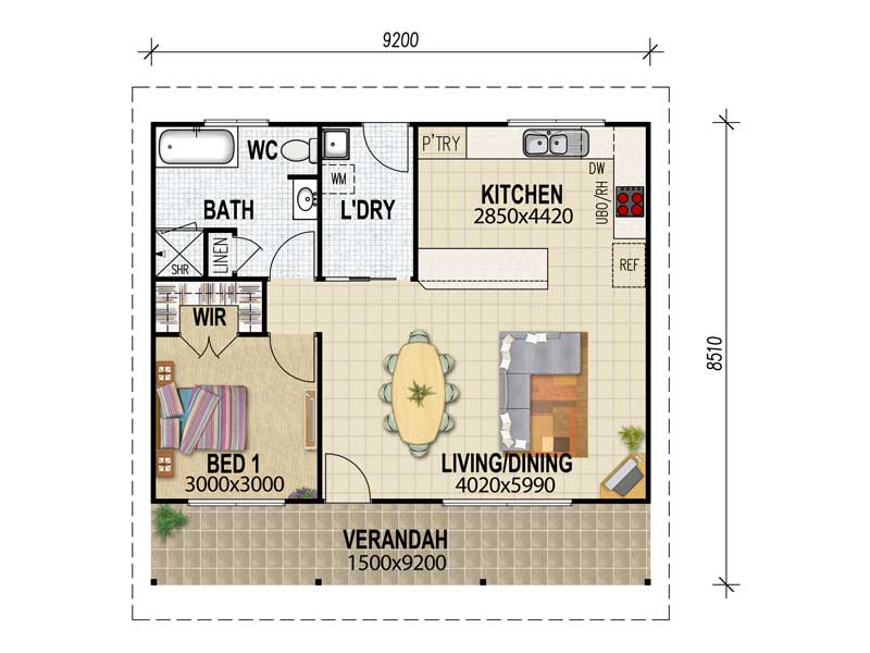 Granny Flat Plans & Designs From House Plans Queensland – House