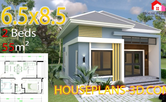 Small House Design 6 5x8 5 With 2 Bedrooms Hip Roof