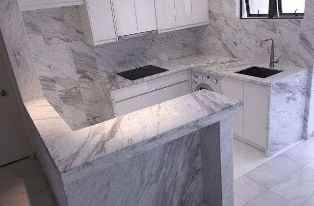 Marble Bar Counter Top with Lighting