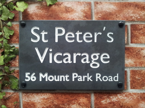 Engraved slate house name sign address plaque 300mm x 200mm 11.8 inches x 7.9 inches
