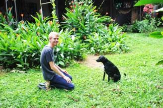 Luke training Bijou in Quepos, Costa Rica