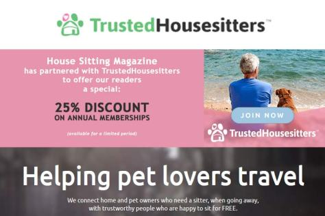 TrustedHousesitters 25% Discount