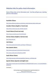website links for police checks